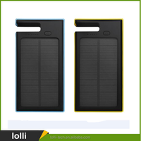 High quality 8000mah slim solar power bank for mobile phone