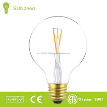 led spot lights G80 led street lighting led bulbs uk with E27/E26/B22 baseLED filament bulb CE/ROHS/ETL/ERP