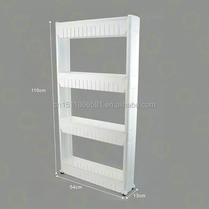 Three shelf plastic bathroom shelf