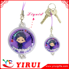 wholesale cheap price liquid filled keychain