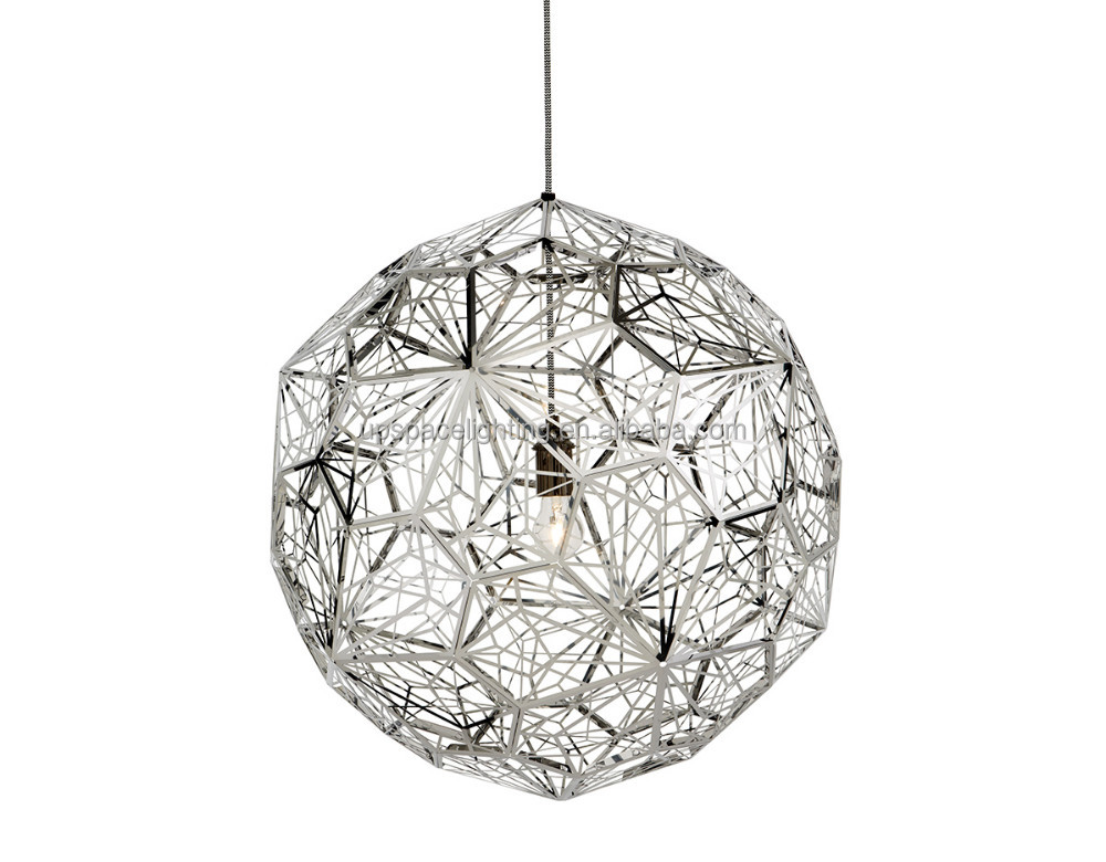 (XCP7171) modern edison chandelier etch black gold Etch Web stainless steel Pendant Light