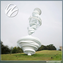 Famous art painted metal Tornado large modern garden sculpture