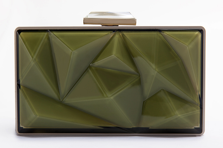 High-quality new style green bag acrylic clutch bag
