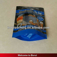 plastic bottom gusset pouch,stand up animal food bag