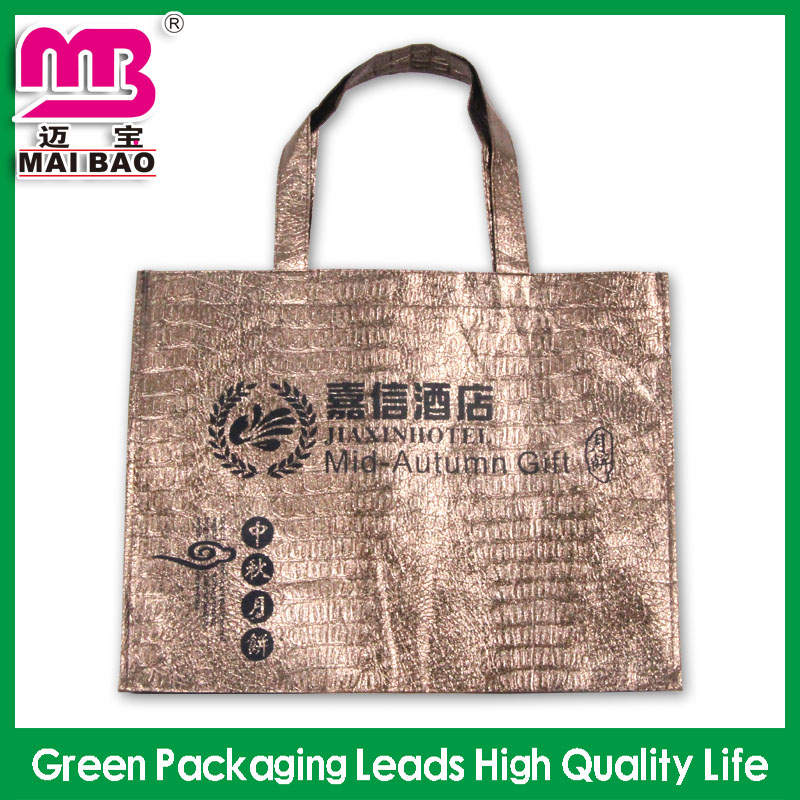 Washable reusable & durable recyled material custom luxury printed pp nonwovwnbag shopping