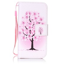 Painted Flip Case Wallet Leather Cover for iphone Samsung galaxy 5C 5 5s SE 6 6s 7 plus S3 i9300 S4 S5 Neo S6 S7 S7edge