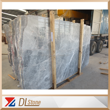 China Cheap silver grey marble Tile Slab