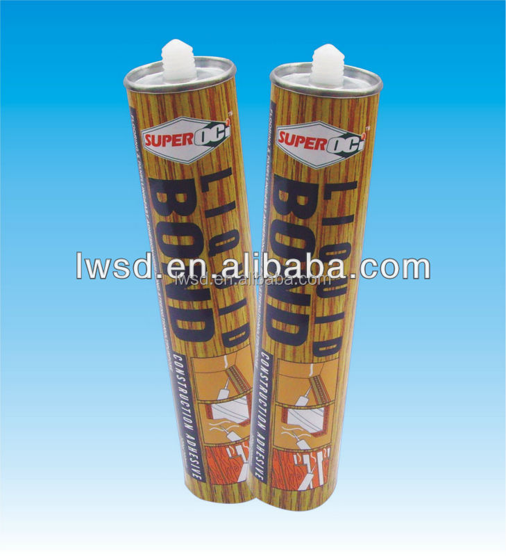 Heavy-Duty Liquid Nails Construction Adhesive/high pressure pvc glue / double sided adhesive nail for construction industry