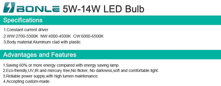 High Lumen E26 LED Bulb Light