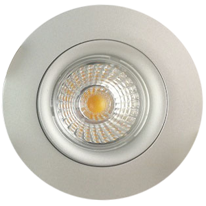 7w Recessed led downlight with dimmable nickel 68mm cutout
