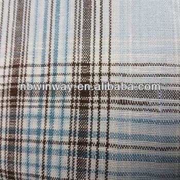 linen/cotton blended yarn dyed fabric