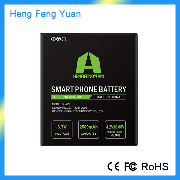 Factory Cheap Price 3.7V 2500MaH BL229 Battery the Cell Phone Battery for Lenovo A8 A808t A806 Mobile Phone
