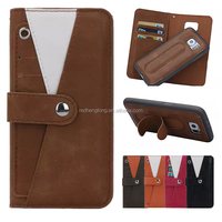 Classic Detachable Wallet PU Leather Case Slap Stand Phone Case for Samsung Galaxy S6 Edge