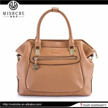 Wishche New Style Fashion Ladies Handbag Women Brand Tote Handbag Lady Hand Bag High Quality Leather Bags Made in China W033