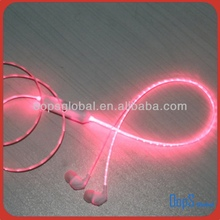 fashion flashing earphone LED lighting earphone