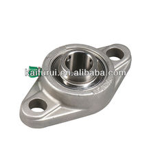 Stamped steel plate oval two-bolt flange type units Cylindrical bore pillow block zkl bearings with housings PFL205