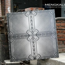 600mm iron and steel type pattern deco tile,public place