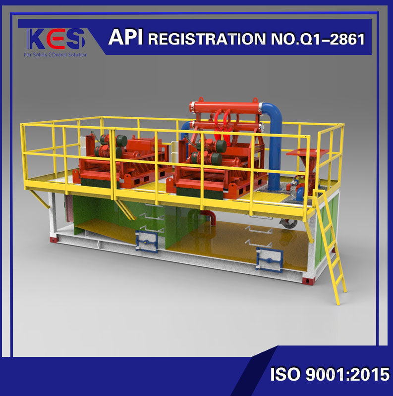 mud recycling system for HDD drilling rig