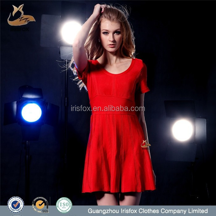beautiful and cheap short sleeve red dress maid of honor dress
