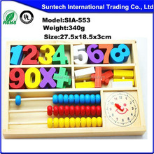 Math Manipulatives Wooden Counting Sticks Kids Preschool Educational Toys