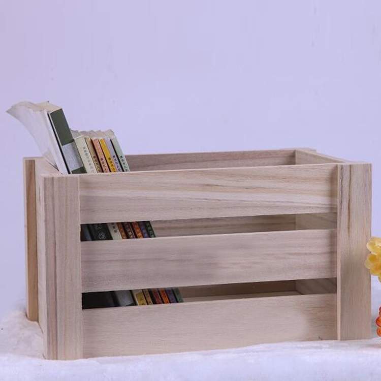 Customized shape recycled slatted wooden crate
