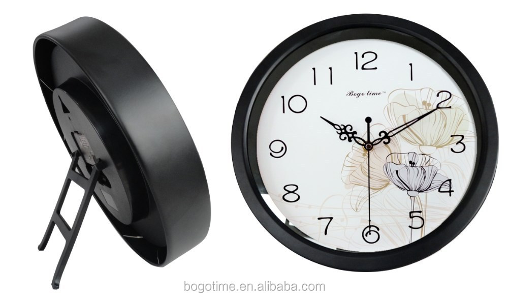 8'' promotional decorative plastic table and wall clock