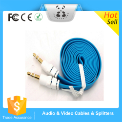 High Performance 3.5mm Flat Aux Cable Noodle Auxillary Music Car Male to Male Cord Audio Stereo Extended Audio Auxiliary Cable