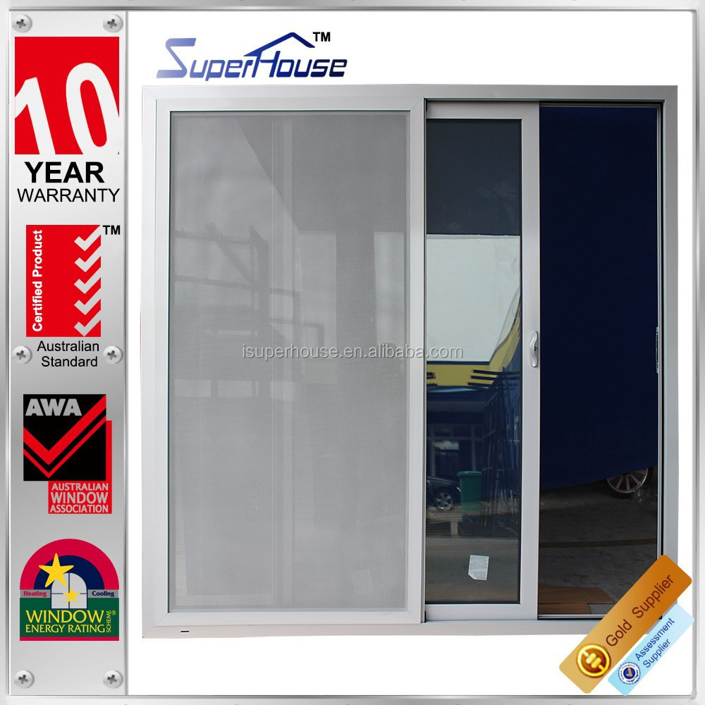 Australia AS2047 standard commercial double glass double leaf aluminium sliding doors