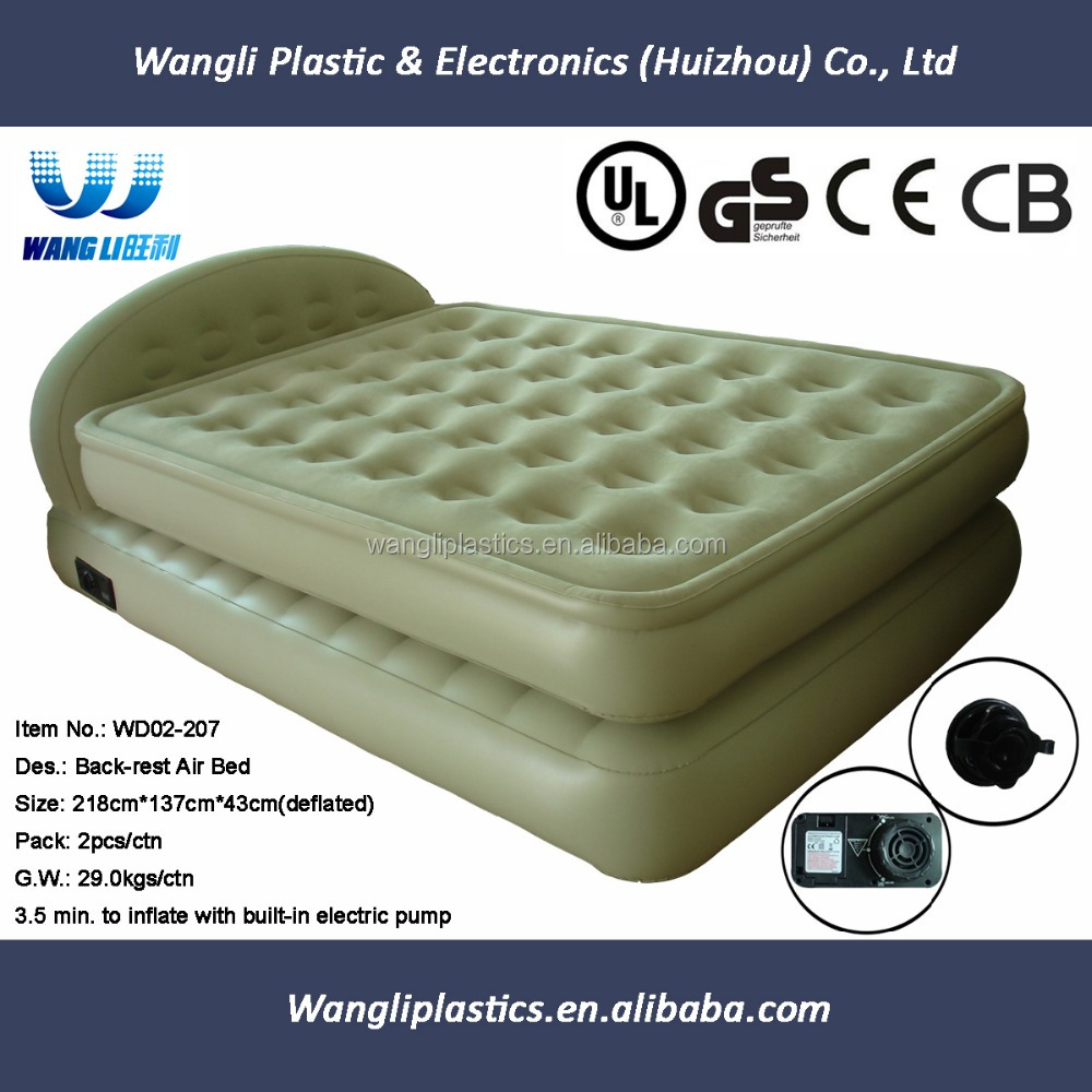 Double Size Inflatable Air Bed With Frame Air Mattress For Sale