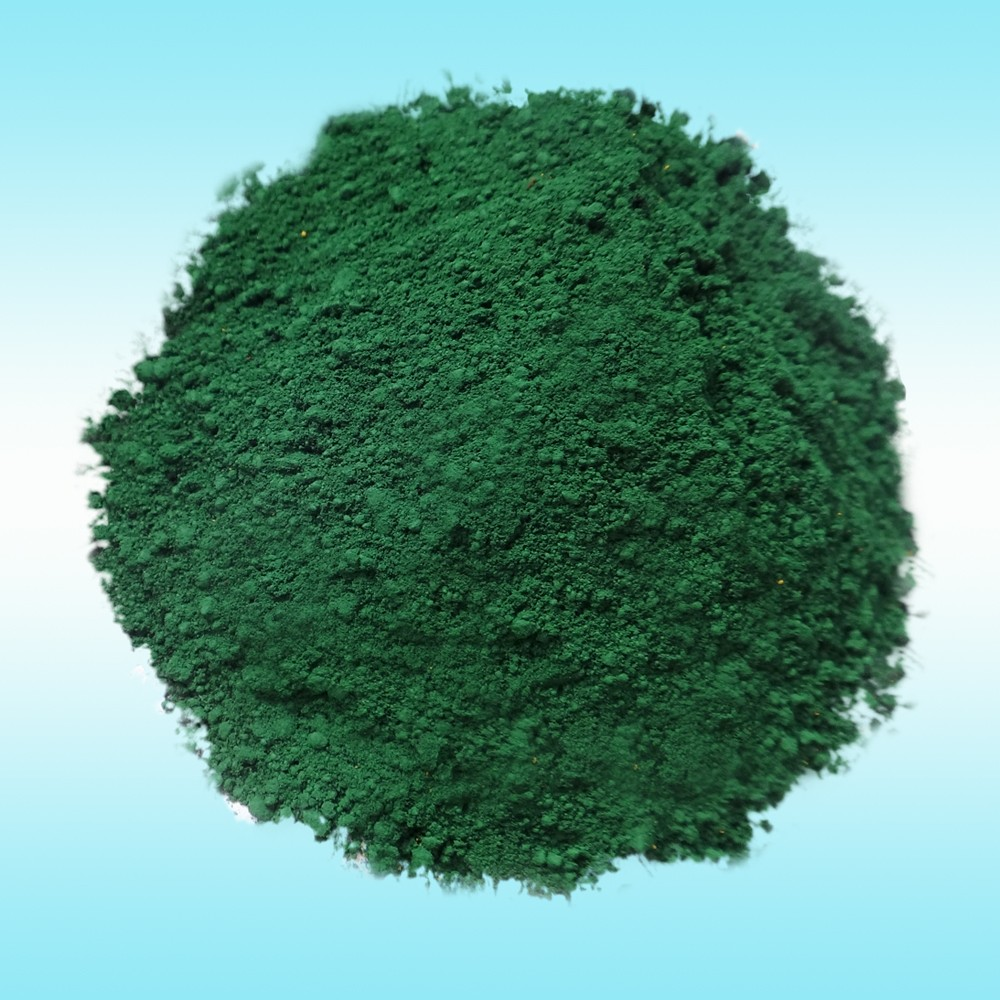 Pigment iron oxide green for master batch
