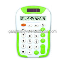 8-digit LCD display cheap dual power pocket calculator