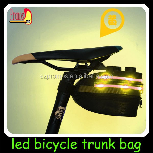 USB rechargeable flashing sports bag for bicycle/bike