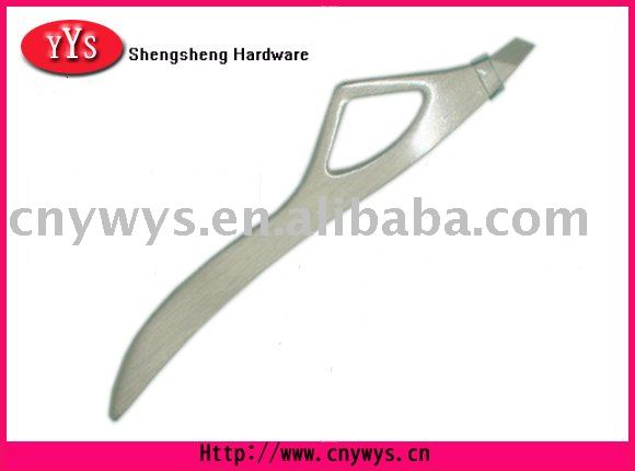 FLAT AND SLANTED STAINLESS STEEL EYEBROW TWEEZER