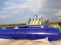 best quality giant inflatable slide with pool