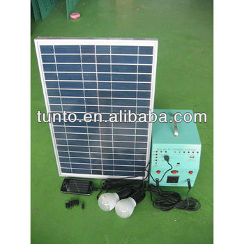 25w solar power system 220V for house use
