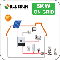 AC 110V/220V full 5kw solar panel kit on grid with Indonesia market