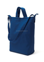 Two Way Carrying Style Plain Cotton Canvas Shoulder Bags