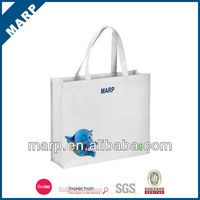 Natural color shopping bag with log
