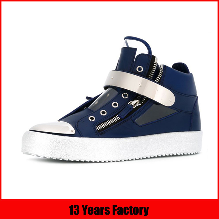 popular style in 2016 men leather sneaker shoes