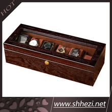 Wooden multiple watch display box
