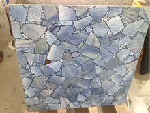 Natural Blue aventurine synthetic granite