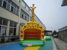 giraffe design inflatable bounce house