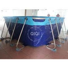 Commercial 0.6mm pvc tarpaulin inflatable water pool large inflatable water pool toys for sale