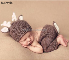 Baby Hat and Pant Set, Newborn Baby Photography Prop, Hot Selling Deer Hat and Pant for Newborn Baby