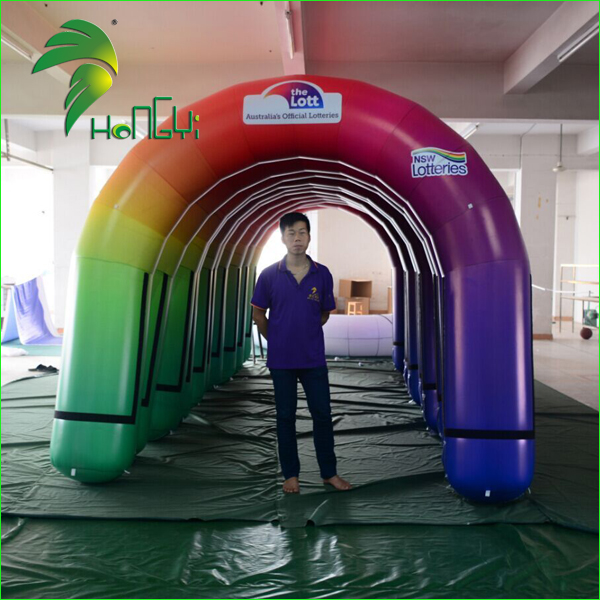 Promotional Custom Finish line Balloon Inflatable Arch with LOGO