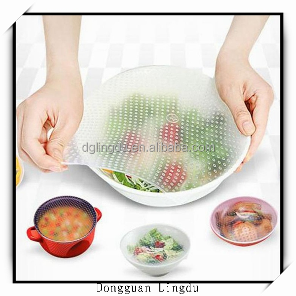 Different size silicone food wrap cling film for cooking