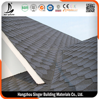 Cheap Roof Tile Prices Green Asphalt Shingles Spanish Red Roofing Material in China