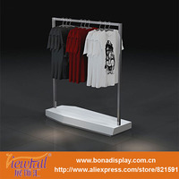 clothing store metal hanging clothes display racks