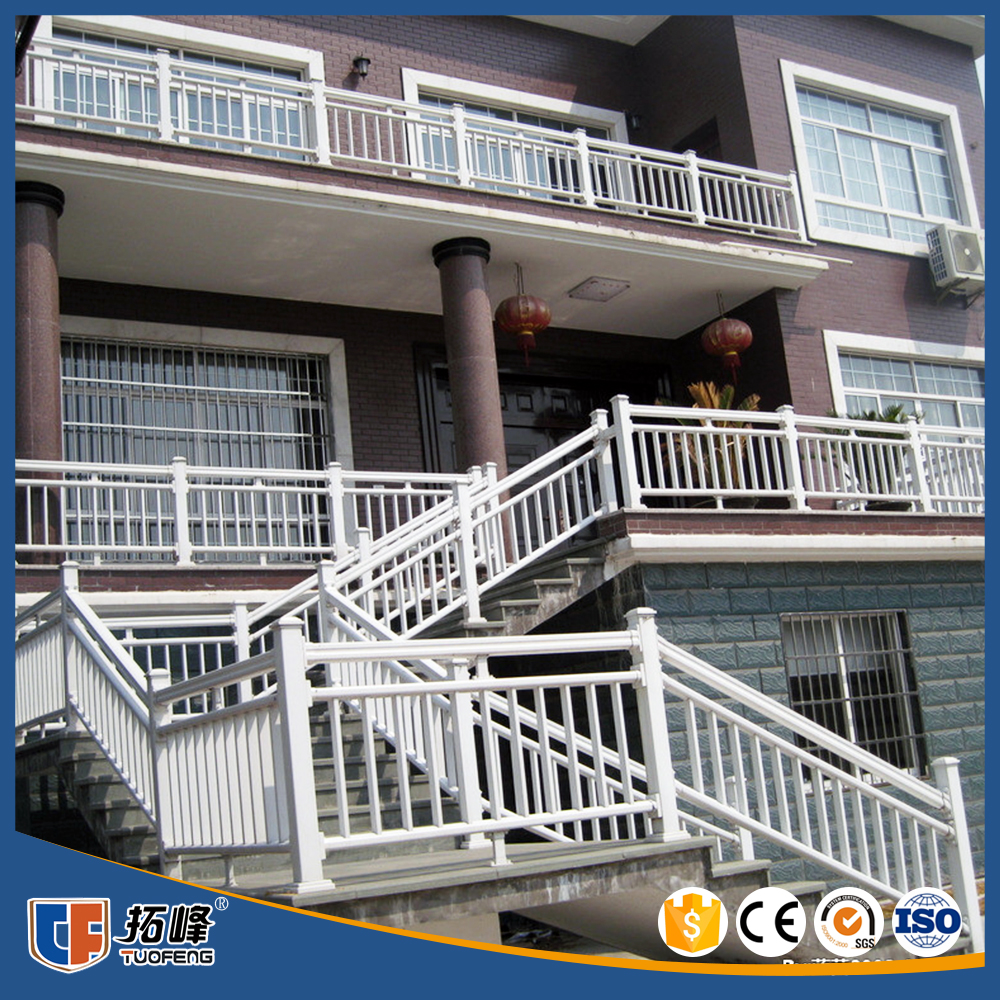 Factory custom Modern design wrought iron stair railing