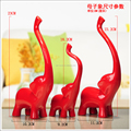 adore hand made red resin elephant home accessories for home decoration